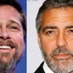 trend uomo: barba Pitt, Clooney