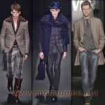 Abbigliamento uomo moda scozzese, Ferragamo e Coveri