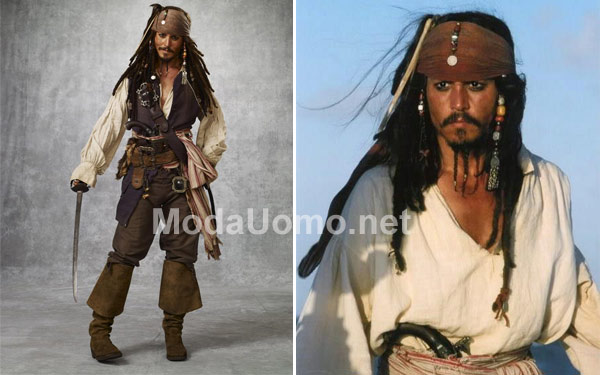 Travestimento-uomo-carnevale,-pirata-Jack-Sparrow, idee costumi maschili low cost